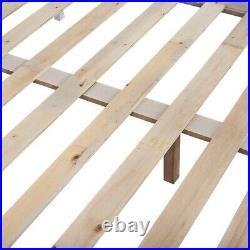3FT & 4FT6 Solid Wood Pine Bunk Bed Frame Triple Sleeper Bedstead for Kid Adult