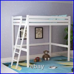 3FT Loft Cabin Bunk Bed Mid Wooden Adults Kids Single Sleeper Ladder Dormitory