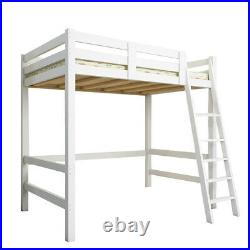 3FT Single Children Kids High Sleeper Cabin Wooden Pine Frame Bunk Bed Ladder UK