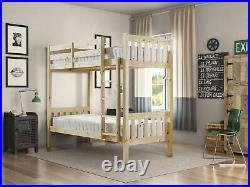 3FT Single Size Solid Pine HEAVY DUTY Bunk Bed Wooden Frame (EB25)