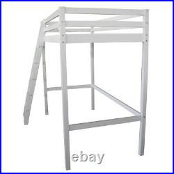 3FT Wooden Bunk Bed Frame Single Solid Pine High Sleeper Cabin Kids Bed White