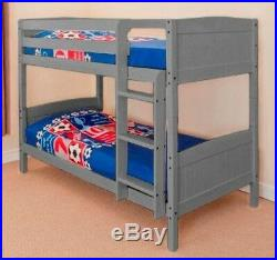 3ft Single, 2ft6 Shorty, White, Antique, Natural Pine Bunk Bed & Mattress Option
