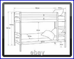 Argos Home Detachable Bunk Bed Frame Grey