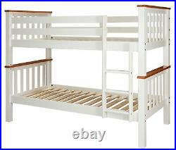 Argos Home Heavy Duty Bunk Bed Frame White and Pine