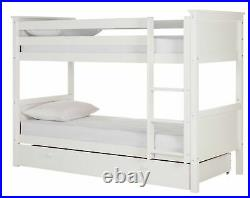 Argos Home Kingston Bunk Bed with Drawer White