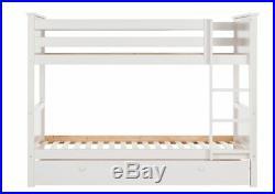 Argos Home Kingston White Bunk Bed with Drawer White