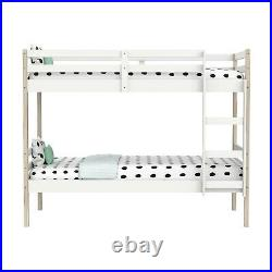 Axel Bunk Bed in White and Pine Splits into 2 Single Beds