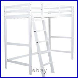 Bedroom 3FT Single Bunk Bed High Sleeper Wooden Bed Frame Loft Ladder Frame Kids