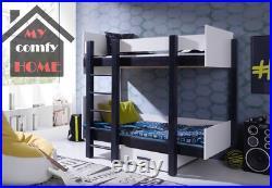 Bunk Bed ASTOR UK Single Size CHILDREN BEDROOM FURNITURE Solid Wood Many Colours