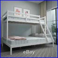 Bunk Bed Frame Triple Sleeper Solid Pine 3ft Top & 4ft6 Bottom Kid Bedroom Guest