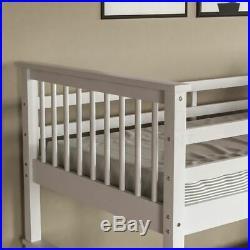 Bunk Bed High Sleeper Solid Wood Frame Slats Childrens Kids Single 3FT White