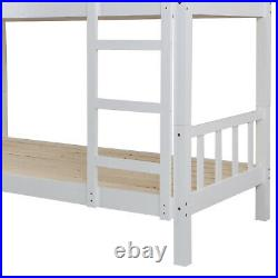 Bunk Bed Kids Wooden Single Bed Frame Mattress Bunk beds Childrens Sleeper