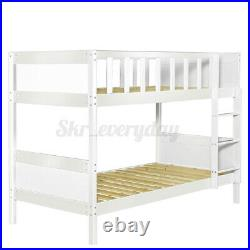 Bunk Bed Wooden Bed Frame White Pine Sleeper with Ladder Kids Single 3FT