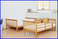 Bunk Bed Wooden Frame oak Triple Sleeper Children bunk bed single in pine 4ft6