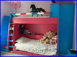 Bunk Beds, Steps also drawers, +Drawers under bed, Wardrobe, Desk/Dressing Table