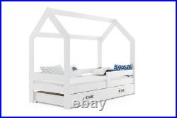 Bunk bed HOUSE 1 for children real wood & MDF FREE mattresses 160 x 80