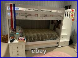 Bunk bed with staircase storage drawers & trundle (3rd bed)