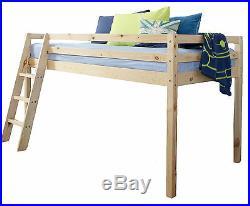 Cabin Bed Mid Sleeper Wooden Pine Bunk Bed 57NT