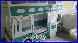 Campervan Bed Surfer Style Green & White Bunk Bed by Julian Bowen Rrp £700. Used