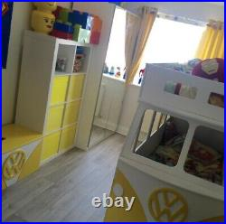 Campervan Bunk Beds With Matching Toy Box Yellow And White
