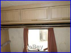 Caravan Over Head Locker & Fold Up Wooden Bunk Bed & Support Arms Camper Van