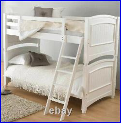 Colonial Full Size Bunk Bed Wooden in White Excellent Condition Costco