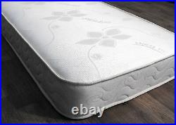 Contemporary Classic White Bunk Bed + 2 X Memory Foam Sprung Mattresses