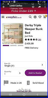 Derby triple bunk beds used