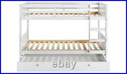 Detachable Bunk Bed with Storage White
