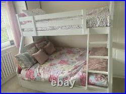 Double And Single Bunk Bed White Storage Underneath MATTRESSES INCLUDEDIF WANTED