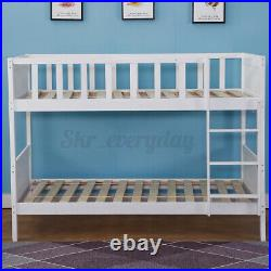 Double Bed Bunk Beds Stairs For Kids Children Pine Wooden Single Bed Frame
