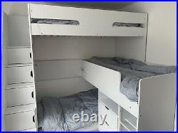 Flair Oscar Triple Bunk Bed White