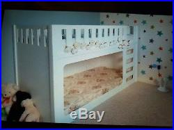 Funtimes kids white wooden bunk beds