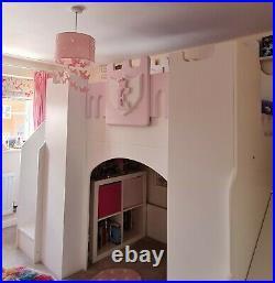 Girls Princess single Castle Bed. High sleeper, bunk bed, novelty bed