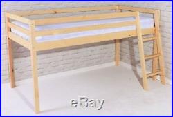 Girls Shorty 2FT 6 Cabin Bed Mid sleeper Loft Bunk Kids New Wooden Pine