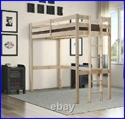 HEAVY DUTY Solid Pine HIGH SLEEPER Bunk Bed 2ft 6 Small Single (EB12)