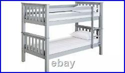 Heavy Duty Bunk Bed Frame Grey