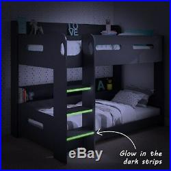 High Quality Wooden Bunk Bed with Storage 5 Mattress and 3 Colour Options