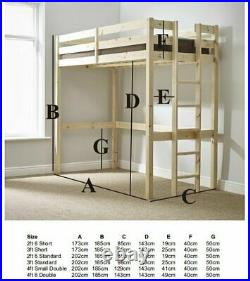 High Sleeper Bed, Loft Bed, Bunk Bed, Bed With Desk, Double Bed Frame, Wayfair