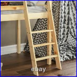 High Sleeper Bunk Bed Cabin Loft Bed Storage Ladder Kids Wood 3FT Single Pine