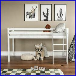 High Sleeper Bunk Bed Loft Bed Cabin Storage Solid Pine Wood 3FT Single White