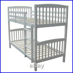 Homegear 3FT Solid Pine Wooden Bunk Bed Can Split into 2 Single Beds White
