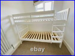 John Lewis Wilton Bunk Bed with x2 Simba Hybrid Single Pocket Sprung Mattresses
