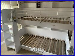 Julian Bowen Domino Bunk Bed Frame in White. Used