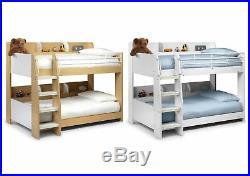 Julian Bowen Domino Wooden 3ft Bunk Bed Maple & White, White