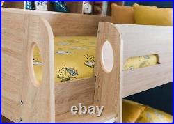 Julian Bowen Orion Bunk Bed Frame 3FT Single Sonoma Oak with drawer & shelves
