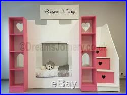 Kenilworth Castle, Prince or Princess Bunk, Cabin or Triple Sleeper Bed & Steps