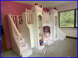 Kids Castle/Fortress Bunk Beds With Slide