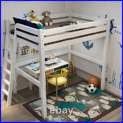 Kids Teens Bedroom 3ft Single Loft Bed High Sleeper Cabin Wooden Bunk Frame Bed