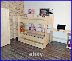 Loft Bed Bunk Bed Kid's Room Slats Drawer Solid